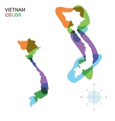 Abstract color map vietnam vector