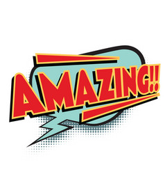 Amazing comic word vector