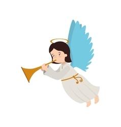 Angel trump musical instrument icon vector