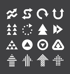 Arrow icons set design vector image