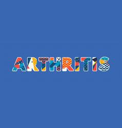 Arthritis concept word art vector
