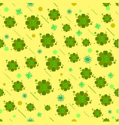 Bacteria virus and germs microorganism cells green vector