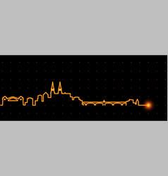 Basel light streak skyline vector
