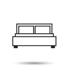 bed isolated on white background bed icon vector image
