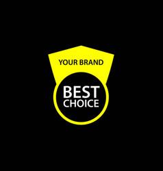 Best choice template design vector