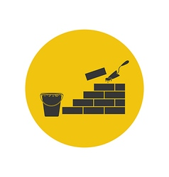 Brickwork silhouette vector