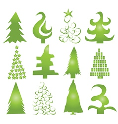 Christmas Tree Shapes vector