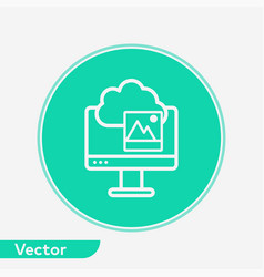 cloud computing icon sign symbol vector image