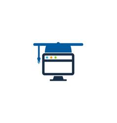 Computer education logo icon design vector