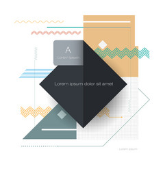 cool abstract geometric background blank simple vector image