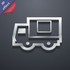 Delivery truck icon symbol 3D style Trendy modern vector