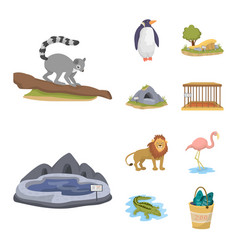 design of zoo and park logo set of zoo and vector image