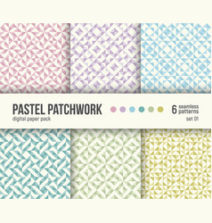 digital paper pack 6 abstract patterns vector image