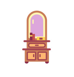 Dressing table flat icon vector