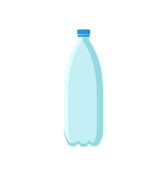 Empty plastic bottle for mineral water or soda vector