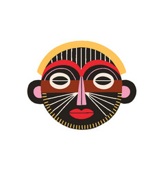 ethnic african tribal mask black ritual holy vector image