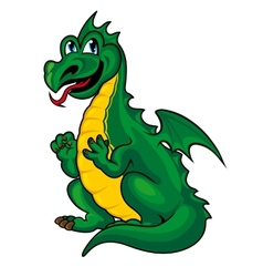 fantasy green dragon vector image