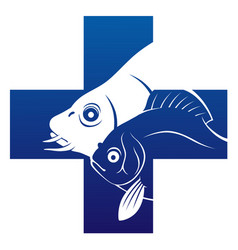 fish veterinary icon vector image