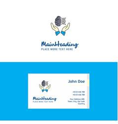 flat safe cloud logo and visiting card template vector image