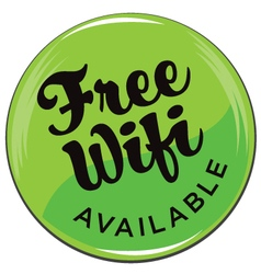 Free-wifi button vector