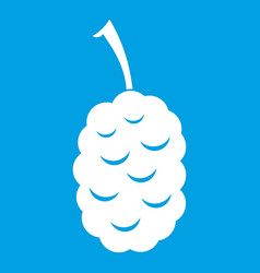 Fruit of mulberry icon white vector