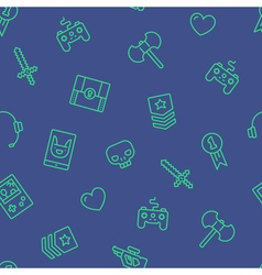 Gamer Icons Background vector image