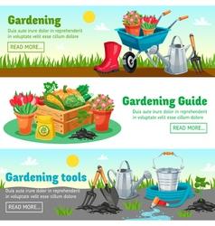 Gardening Horizontal Banners vector image