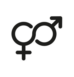 gender symbol related glyph icon isolated vector image