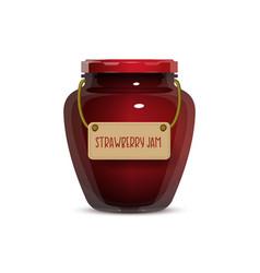 glass jam jar on white background vector image