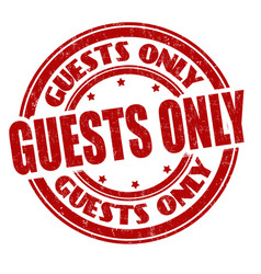 Guests only grunge rubber stamp vector