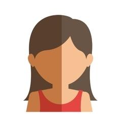 Half body gilr half brunette and caucasian vector