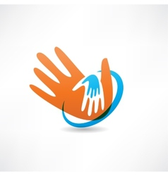 handshake and friendship icon vector image