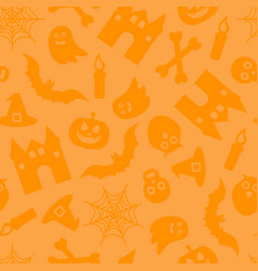 happy halloween seamless pattern for vector image