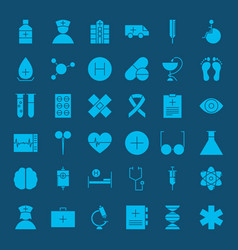 healthcare glyph web icons vector image