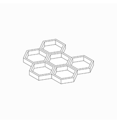 Honey cells icon isometric 3d style vector image
