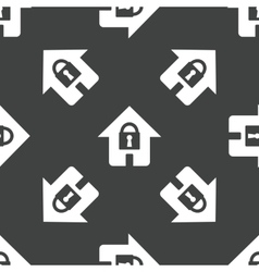 House with lock pattern vector image