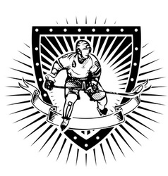 ice hockey shield vector image
