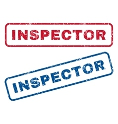 Inspector Rubber Stamps vector