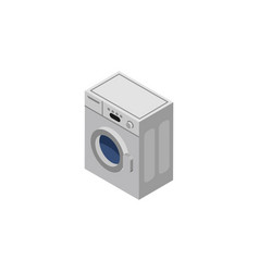 isolated washing machine isometric laundry vector image