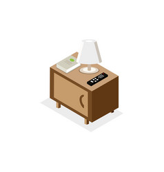 isometric of nightstand vector image