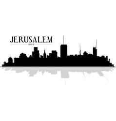 Jerusalem israel skyline silhouette vector