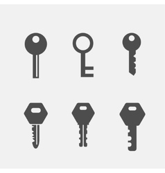 Keys flat icons set vector image