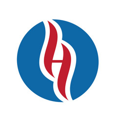 letter h holistic logo design vector image