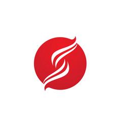 letter s business corporate logo design vector image
