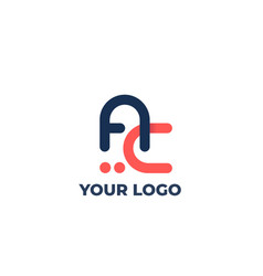 Logo ac letters initials vector