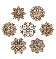 Mandala ornament set vector image