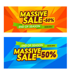 Massive sale advertising banners set abstract vector