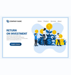 money investing concept with people grow coins vector image