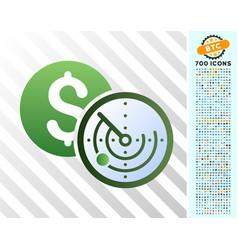 money locator flat icon with bonus vector image
