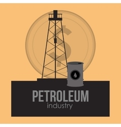 petroleum oil extraction and refinement related vector image